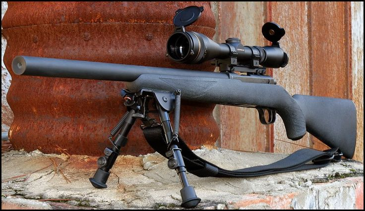 Ruger 10/22 with YHM integrally Suppressed barrel.