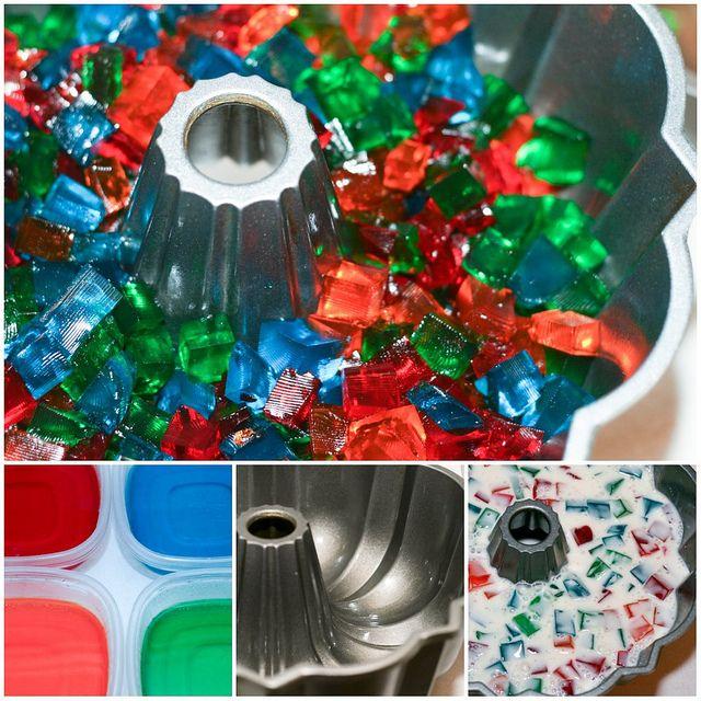 Broken Glass Jello Bundt collage by Food Librarian, via Flickr