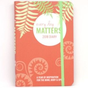 This 2018 diary features positive affirmations throughout with a week-to-page view and sections to reflect and engage with the mantra of positivity. Paperback, pocket sized.