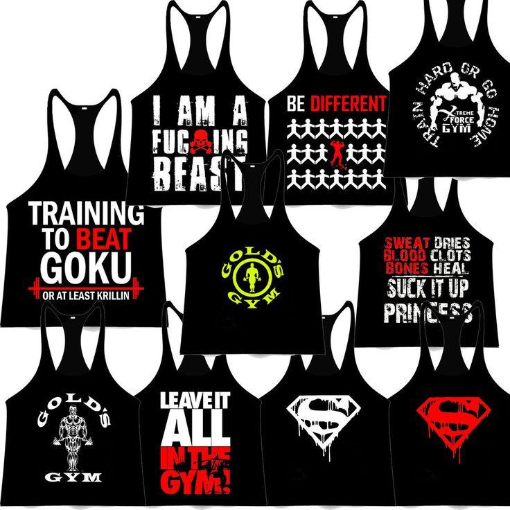 #Bodybuilding Stringer #TankTop GOLD Y-Back Racerback Gym Singlet #MMA fighting