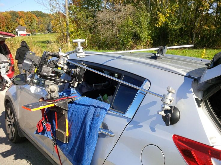 Another car rig. This time the camera has to shoot into the back side window..