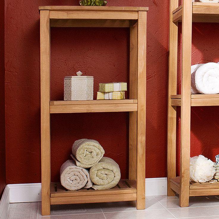 Exelent Teak Bathroom Shelves Ensign - Luxurious Bathtub Ideas and ...