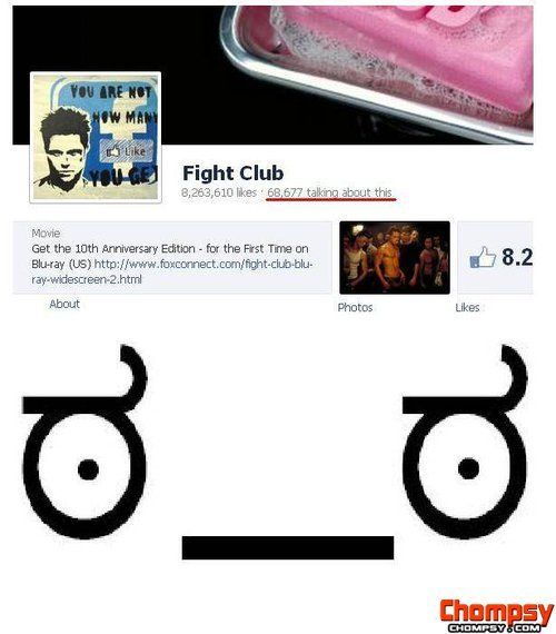 They broke the first rule of fight club....