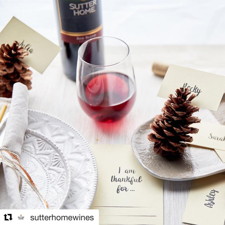 """We're thankful for 🍷 and for you! We hope you have a Happy Thanksgiving. Don't forget to take advantage of our Black Friday Sale – use code """"BlackFriday40"""" for 40% off, from today til Monday! . #Repost @sutterhomewines ・・・ #thanksgiving2018 #bethankfuleveryday #begratefuleveryday #gratitudeisthebestattitude #napavalleylife #winecountryliving #girlbosslife #holidaysale"""
