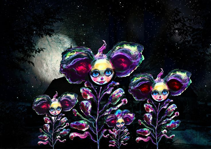 My Little Creatures - Beasts of Botanica!   Dark, luminous, smouldering, and filled with the promise of whispered intrigue.  Those bold enough to venture in to my evocative black orchard, will be rewarded with a rare midnight blooming of these stunning hybrid creatures. They are the Beasts of Botanica ~ Welcome to my Cultivating Creatures Series   http://mylittlecreatures.com.au/beasts-of-botanica-cultivating-creatures-series/