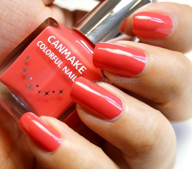Vivid Coral (Canmake Colorful Nails 63)