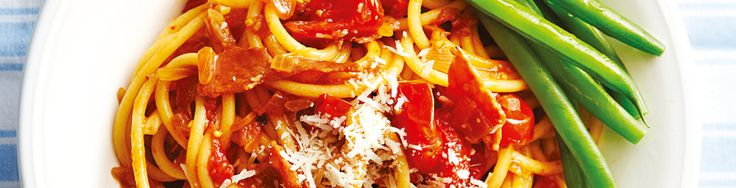 Spicy bacon & tomato spaghetti recipe from WW freshbox
