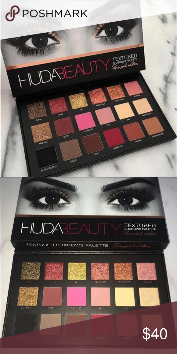Rose gold addition eye shadow pallet Huda beauty rose gold addition eye shadow pallet if you are crazy about makeup this is a must have item ! huda beauty  Makeup Eyeshadow