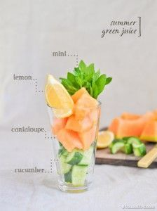 Breville Juicer Recipes - nutritional and tasty - Cantaloupe Cucumber Juice Recipe - Click Here to view more - www.brevillebje51...