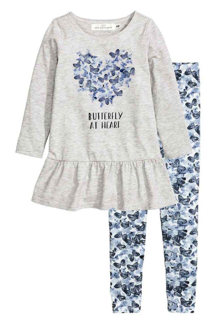 Vestido y leggings de punto   H&M