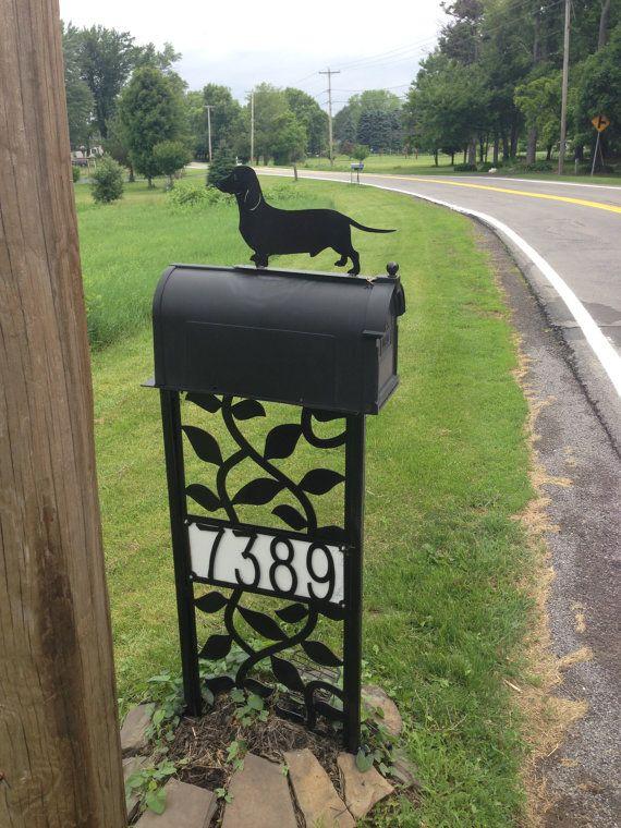 dachshund Mailbox Topper wiener dog by SCHROCKMETALFX on Etsy, $15.00