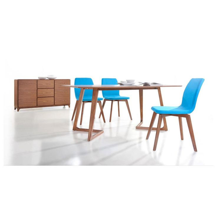 VIG Furniture VGMAMIT 1096 5 Modrest Jett Contemporary Dining Table In Walnut