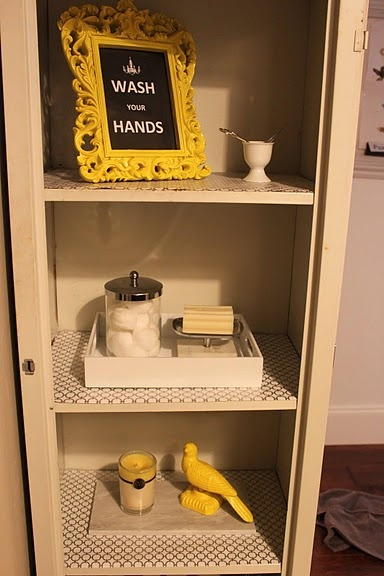 Loving The Yellow Knick Knacks For My Grey, Yellow And Turquoise Bathroom.