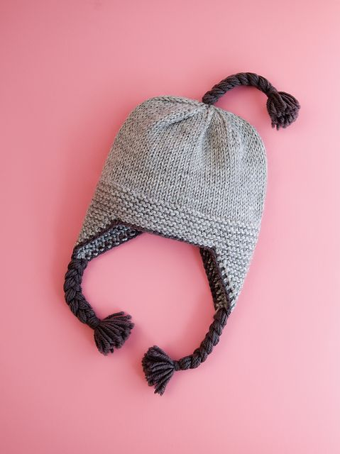 Ravelry: Garter Ridge Baby Earflap Hat pattern by Erssie Major