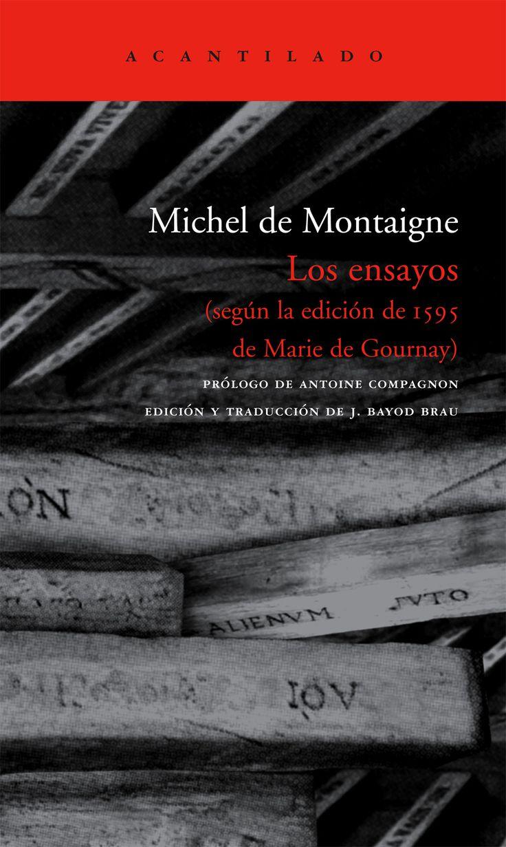 Los Ensayos (de Michel De Montaigne)
