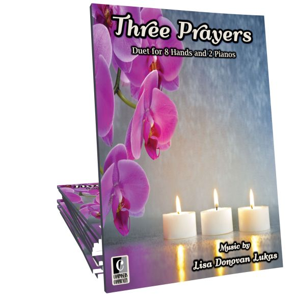 NEW release!  Three Prayers consists of three short engaging movements for 2 pianos, 8 hands.  This is a melodic, contemporary showcase piece for late intermediate students. Ideal for teens as well as students of all ages who enjoy playing duets and ensemble pieces at group lessons and recitals.