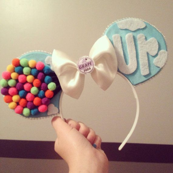 I'm in love with these! UP inspired Mickey Mouse Ears by Mousehouseboutique on Etsy