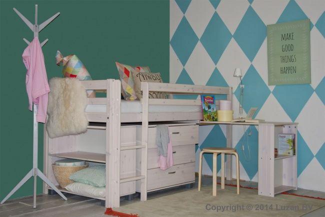 16 beste afbeeldingen over kleine kinderkamer op pinterest toneelstukken lades en bureaus - Stapelbed kleine kamer ...
