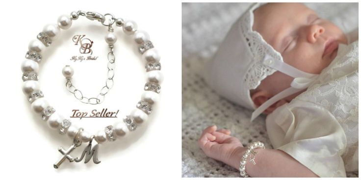 Cross Charm Bracelets, Baby Bracelets, Baptism Bracelet, Baby Bracelet, Personalized Baby Bracelet, Little Girl Gifts, Christening Bracelet