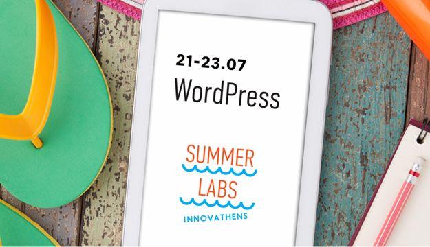 Το Innovathens διοργανώνει Summer Labs ενηλίκων για το χρονικό διάστημα από τις 21 μέχρι τις 23 Ιουλίου. Μέσα από τα Summer Labs παρέχονται όλα τα εργαλεία, η ανάπτυξη δεξιοτήτων, αλλά και γίνεται γνωριμία με το WordPress με τελικό στόχο την κατασκευή μιας ιστοσελίδας. Εισηγητής θα είναι ο δικός μας, ο Τάκης Μπουγιούρης. Περισσότερες πληροφορίες  μπορείτε να αναζητήσετε στο http://www.innovathens.gr/events/10485-2/