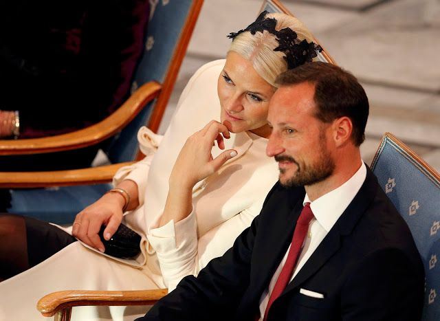 Crown Prince Haakon of Norway and Princess Mette Marit attends The Nobel Peace Prize Ceremony