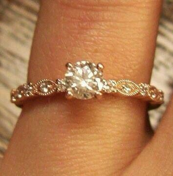 Gold old fashion diamond rings