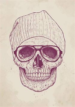 love drawing art life Cool hippie hipster follow back boho indie Grunge skull peace Sketch bohemian relax Poster skelton