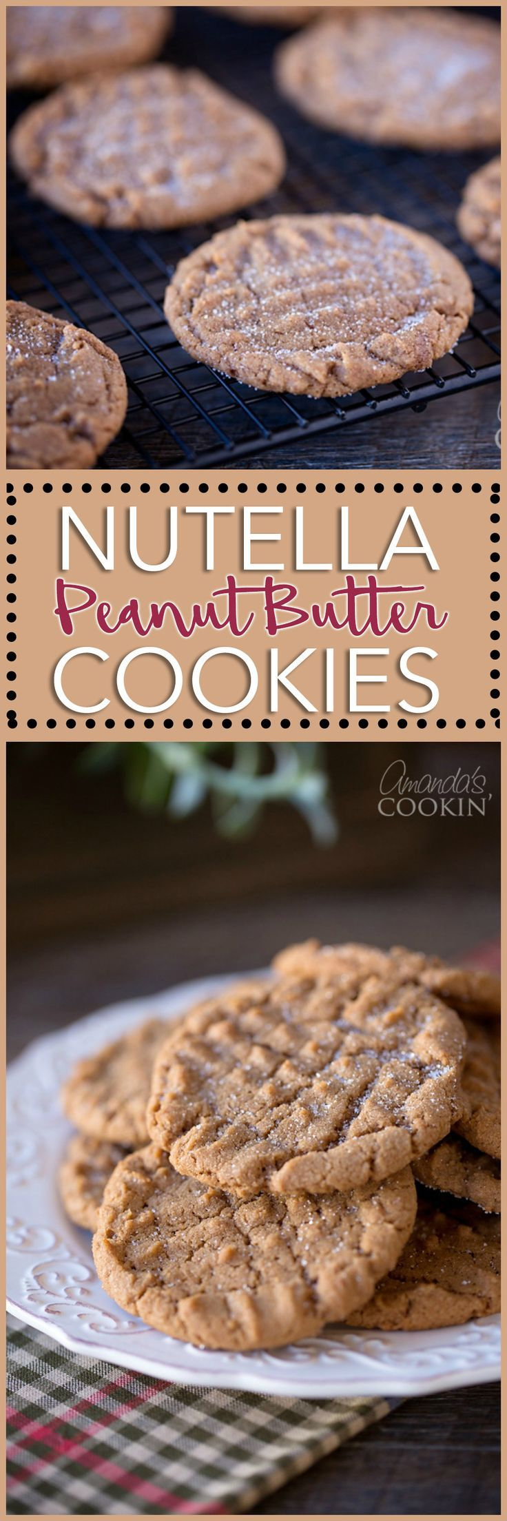 You love Nutella and you love peanut butter cookies. Nutella Peanut Butter Cookies are the best of both of these delicious cookie worlds!