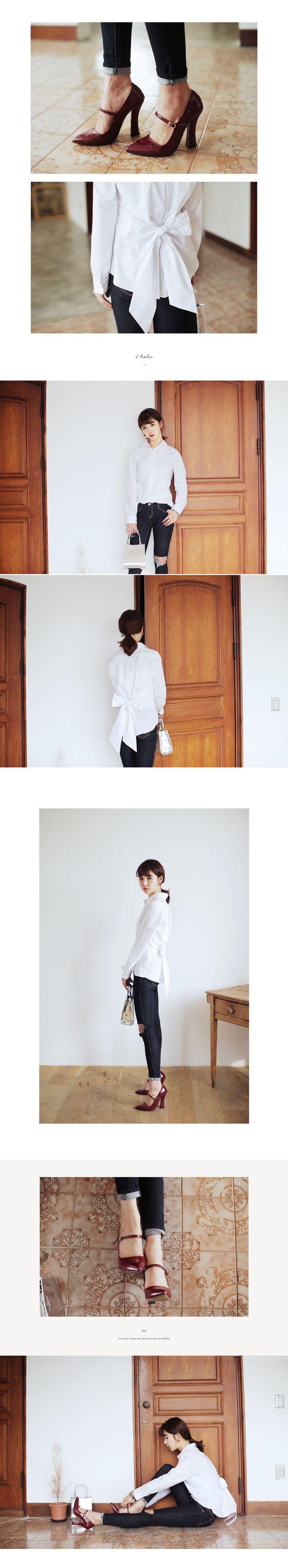 バックリボンホワイトシャツ・全3色シャツ・ブラウスシャツ|レディースファッション通販 DHOLICディーホリック [ファストファッション 水着 ワンピース]