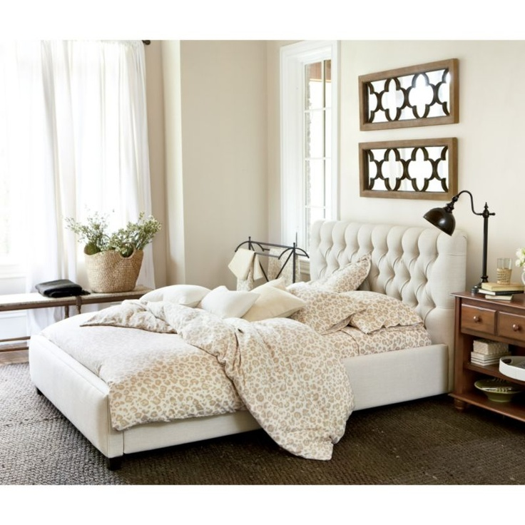 Phoebe Tufted King Bed | Upholstery | Ballard Designs