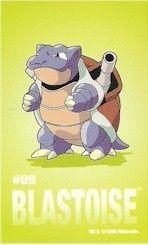 Pokemon Blastoise Sticker Card Sandylion 5413009