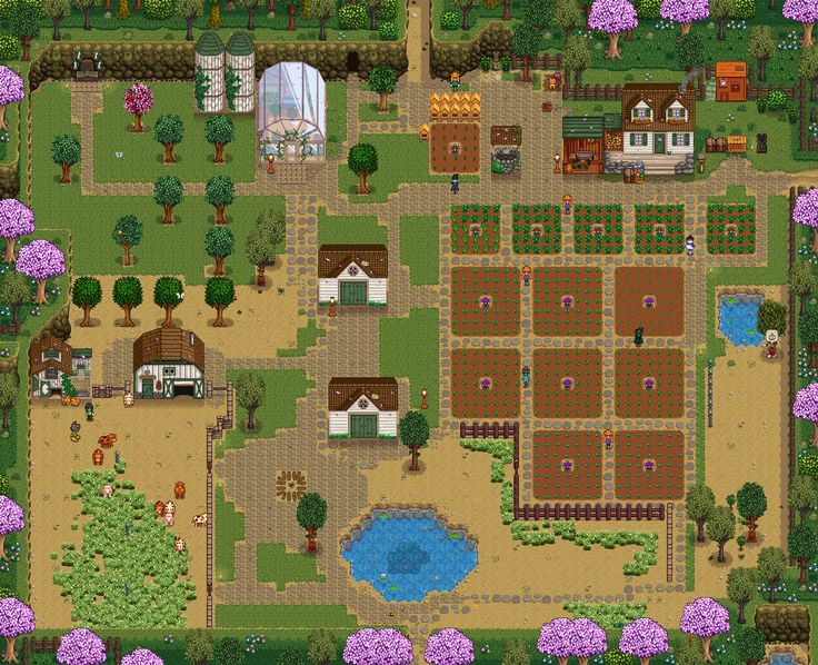 eulalia plays games | New farm layout for year 4. Finally expanded past...