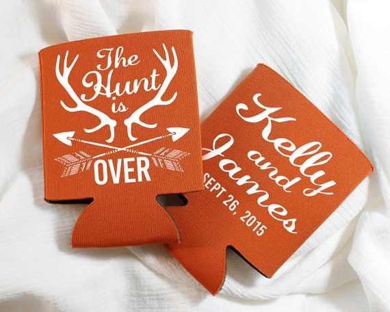 The Hunt is Over Antler Wedding Favors Wedding by SipHipHooray