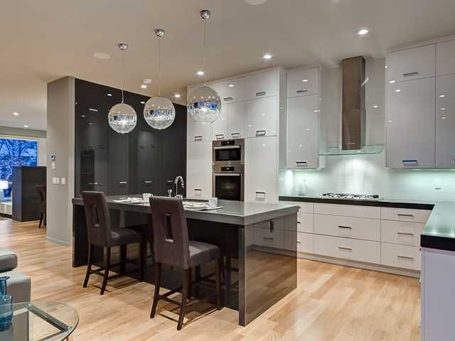 love the lights and the white cabinets