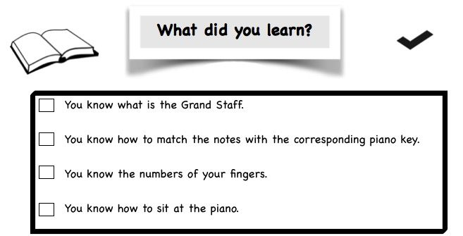 Piano Lesson Checklist