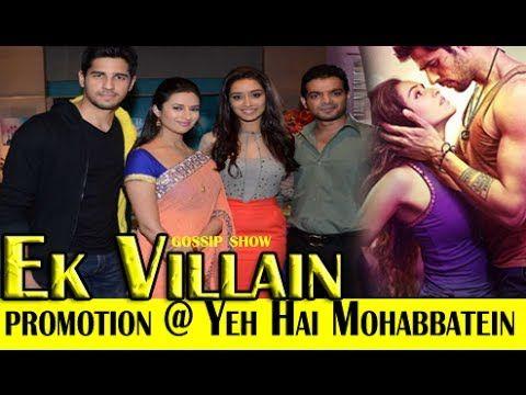 "'Ek Villain' cast on the sets of ""Yeh Hai Mohabbatein"""