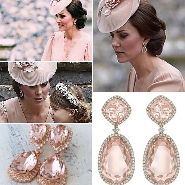 "- WWKD's repliKate Database (@wwkd_replikate) on Instagram: ""Kate accessorized with a new pair of Kiki McDonough morganite drop earrings for the wedding…"""