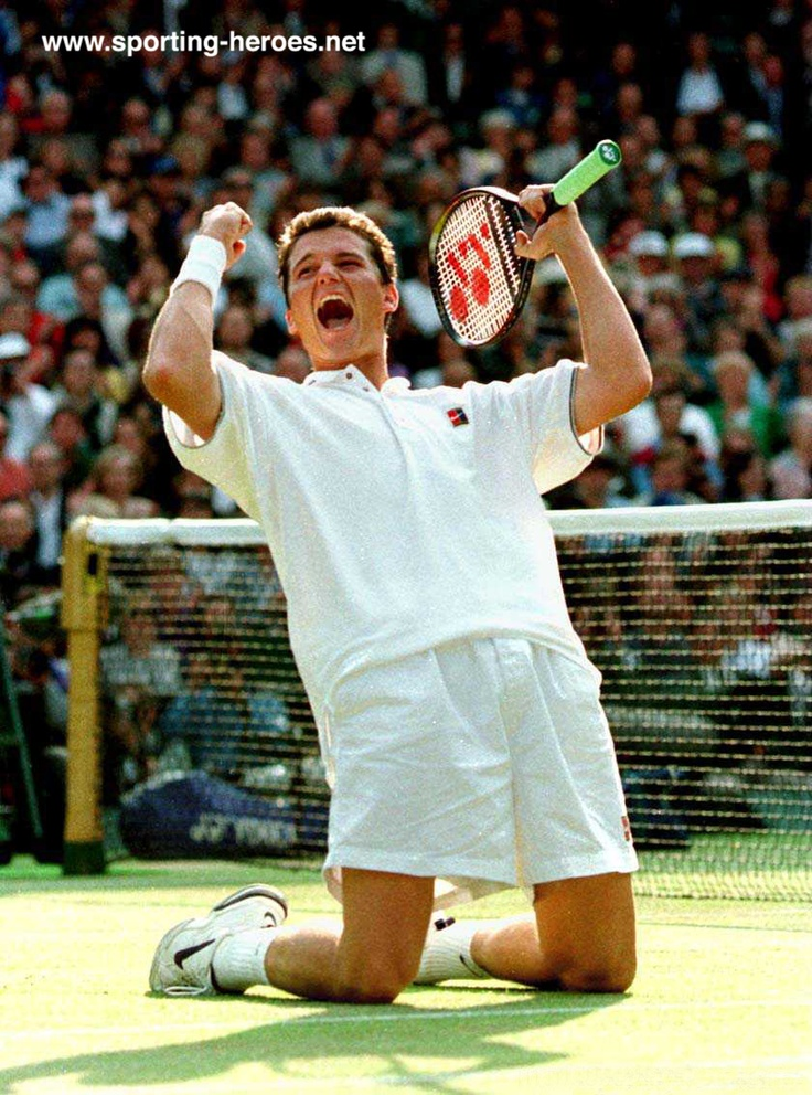 Richard Krajicek after winning Wimbledon in 1996, the first and only Dutchman ever to take the singles title.