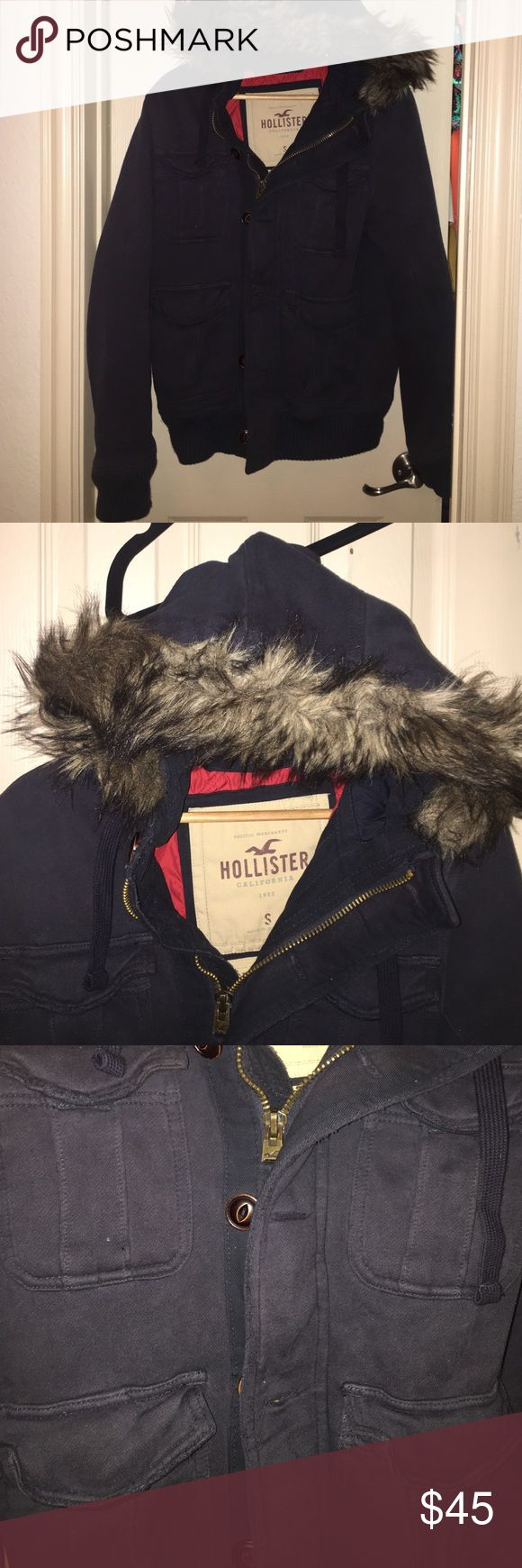 Hollister Jacket with Fuzzy Hood Hollister Jacket with Fuzzy Hood Hollister Jackets & Coats