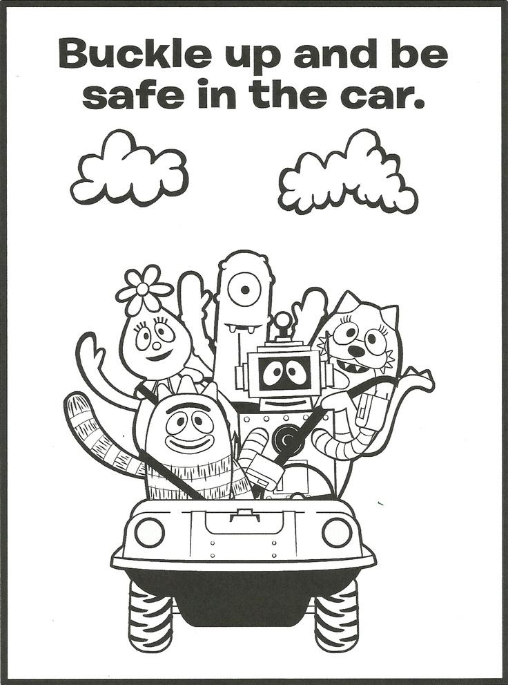 Gabba Gang Coloring Page Safety, Peanuts comics