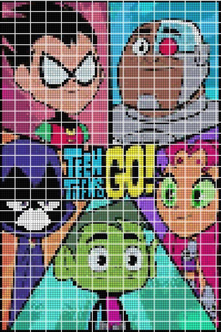 345 best Hard pixel art images on Pinterest | Pixel art, 8 bit and Pearler bead patterns