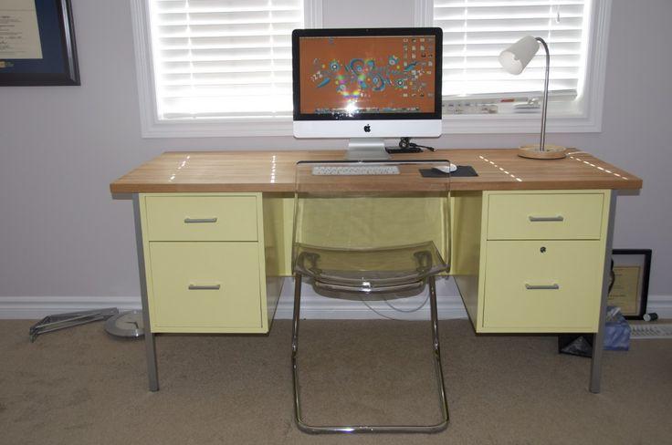 Metal Teacher s Desk Makeover DIY Furniture