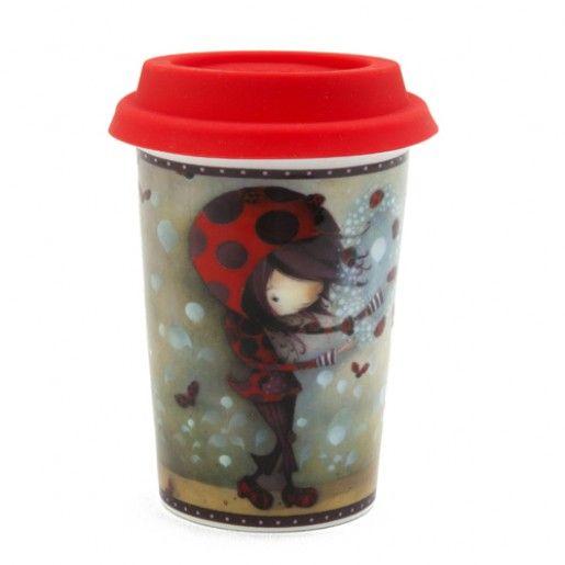 Verre à café Fille coccinelle