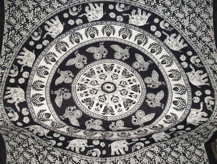 Twin Hippie Indian Tapestry Elephant Mandala Throw Wall Hanging Gypsy Bedspread #Handmade #BedspreadTapestryWallHanging