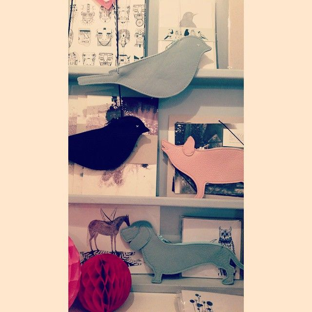 """Tweet tweet! Keecie is IN! Oink oink #keecie #new at #bonbonboutique #leather #bird #pig #dog #tweet #oink #pencilcase #coinpurse #keyring"""