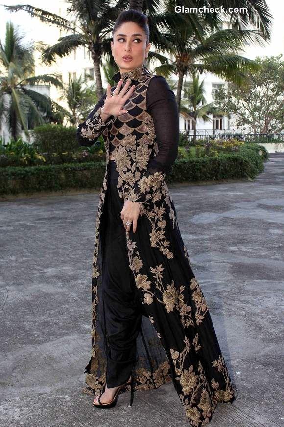 Kareena Kapoor in Anamika Khanna Black and Gold Outfit