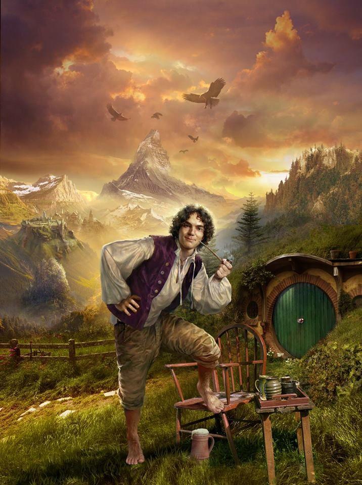 De karakters : de hobbit Bilbo Baggins . Hij is het hoofdpersonage uit het boek. Het karakter van Bilbo verandert totaal doorheen het boek.Aanvankelijk is hij een brave, saaie hobbit maar naar het einde evolueert  hij  naar een echte avonturier.