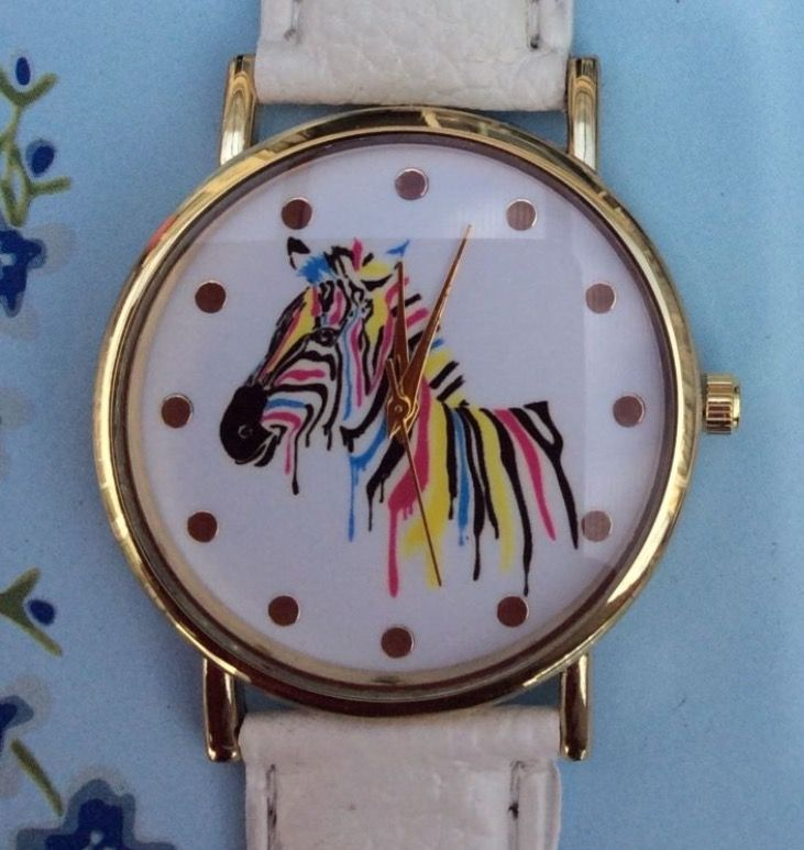 White Faux Leather Strap Zebra Watch #white #fauxleather #leather #strap #watch #watches #wrist #wristwatch #zebra #animal #animals #colour #gift #present http://m.ebay.co.uk/itm/White-Faux-Leather-Strap-Zebra-Animals-Women-Wrist-Watch-Colour-Xmas-Cute-/282438930474?nav=SELLING_ACTIVE