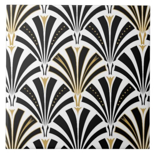 Art Deco - is a movement between WWI and WWII and is characterized by geometric lines and symmetry. It has vibrant colors, but usually in gold.