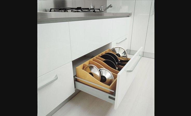 Range-poêlons - Rangement pour armoires de cuisine | Accessoires de cuisine
